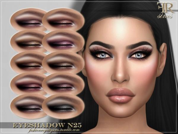 The Sims Resource: Eyeshadow N25 by FashionRoyaltySims