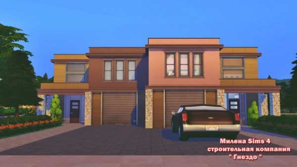 Sims 3 by Mulena: Duplex - for 2 families • Sims 4 Downloads
