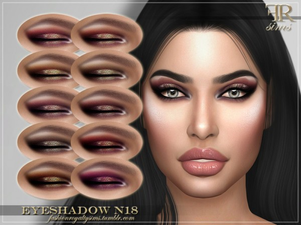 The Sims Resource: Eyeshadow N18 by FashionRoyaltySims
