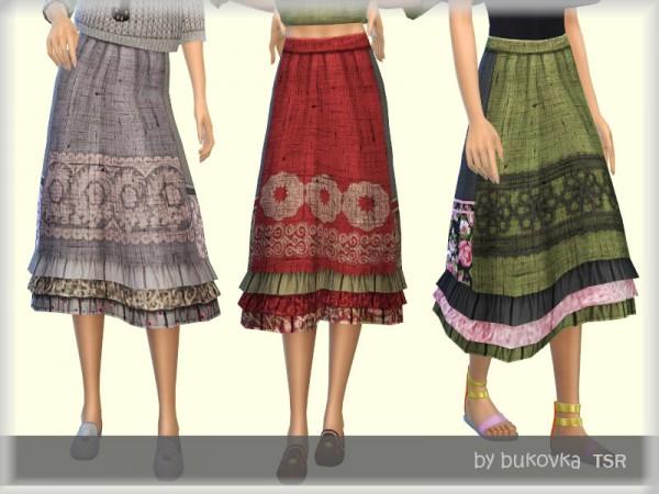 The Sims Resource: Skirt Boho by Bukovka