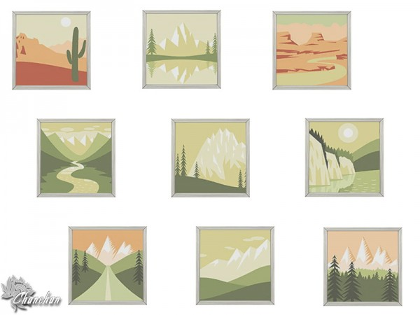 Sims Artists: Between Forest and Desert   paints