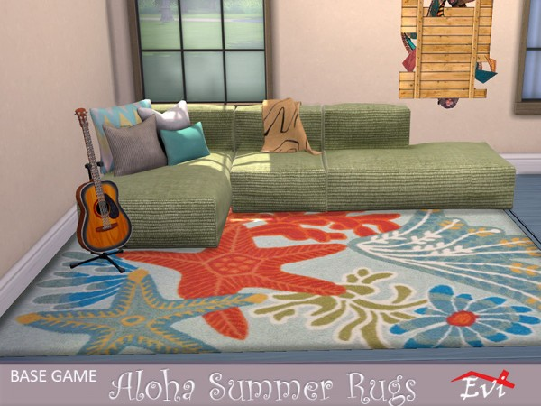 The Sims Resource: Aloha Summer rugs by evi