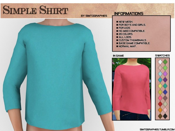Simtographies: Simple Shirt