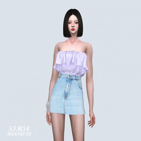 SIMS4 Marigold: Crop Top With Strap