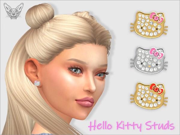 Giulietta Sims: Hello Kitty Studs For Her
