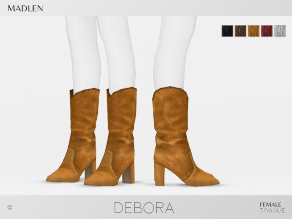 The Sims Resource: Madlen Debora Boots by MJ95