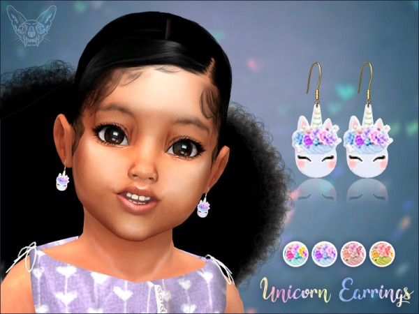 Giulietta Sims: Unicorn Earrings For Toddlers