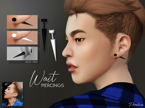 The Sims Resource: Wait Piercings by Pralinesims