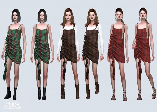 SIMS4 Marigold: One Side Shirring Mini Dress