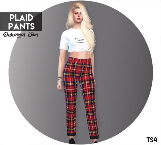 Descargas Sims: Plaid Pants