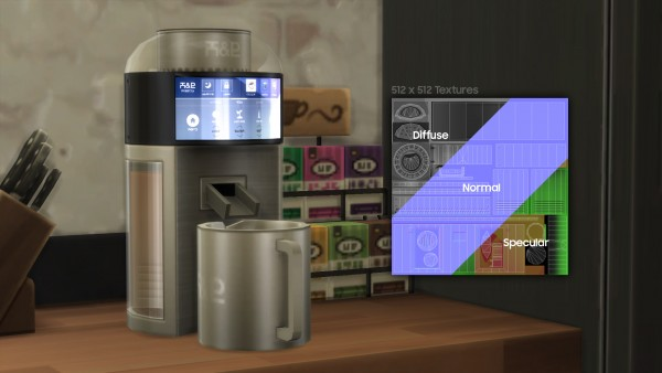 Mod The Sims: H&B PROBrew   Tea Brewer by littledica