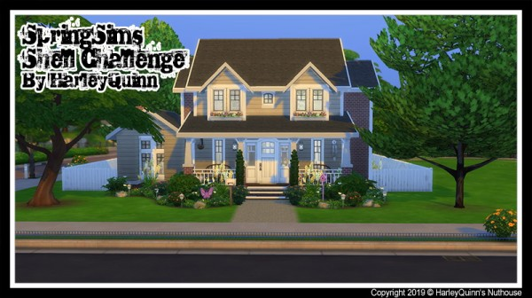 Harley Quinn Nuthouse: Spring Sims Shell Challenge