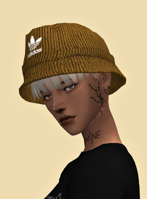 Lemon Corduroy Bucket Hat Sims 4 Downloads