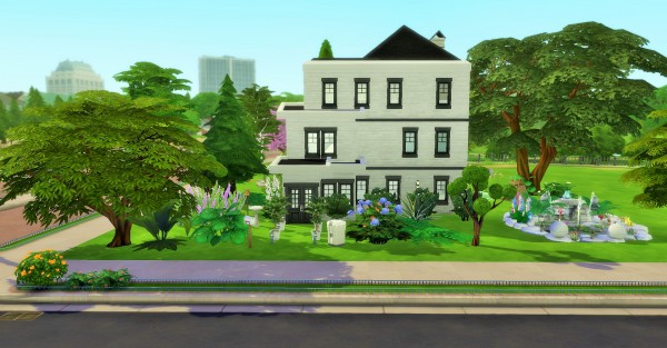 Mod The Sims: Three Story House with Balcony on Third Floor by heikeg