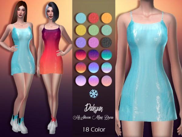The Sims Resource: Dahyun Hi Sheen Mini Dress by Lisaminicatsims
