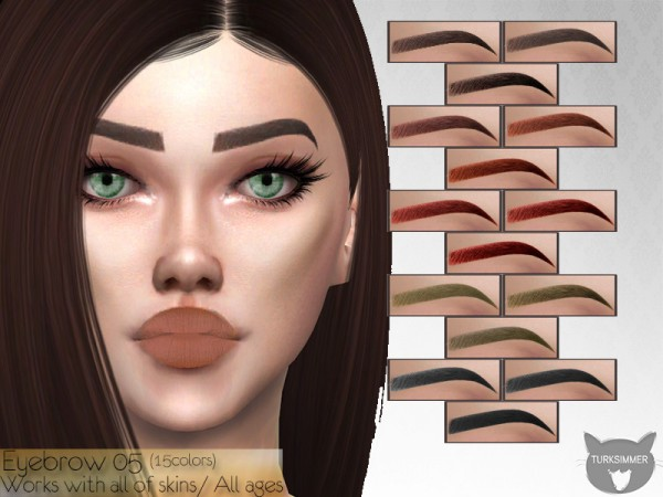 The Sims Resource: Eyebrow 05 by turksimmer