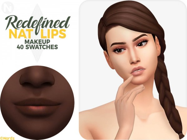 The Sims Resource: Nat Lips by Nords