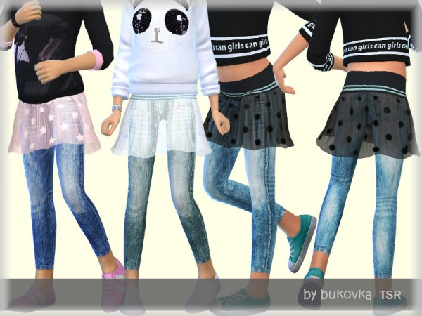 The Sims Resource: Denim and Skirt