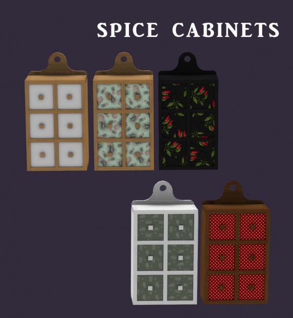 Leo 4 Sims: Spice Cabinets