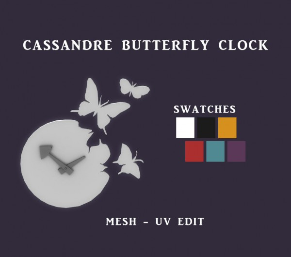 Leo 4 Sims: Butterfly Clock
