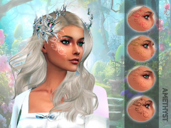 The Sims Resource: Forest face tattoo by amethyst dragon