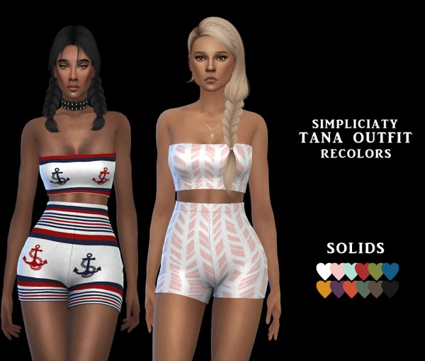 Leo 4 Sims: Tana Outfit recolored