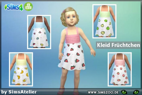 Blackys Sims 4 Zoo: Dress Fruits by SimsAtelier