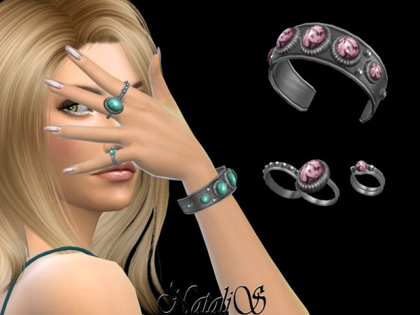 The Sims Resource: Boho bracelet with rings   left by NataliS