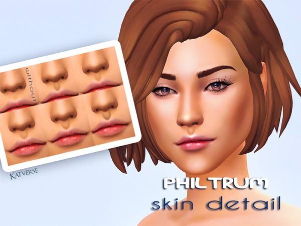 The Sims Resource: Philtrum Skin Detail by KatVerseCC