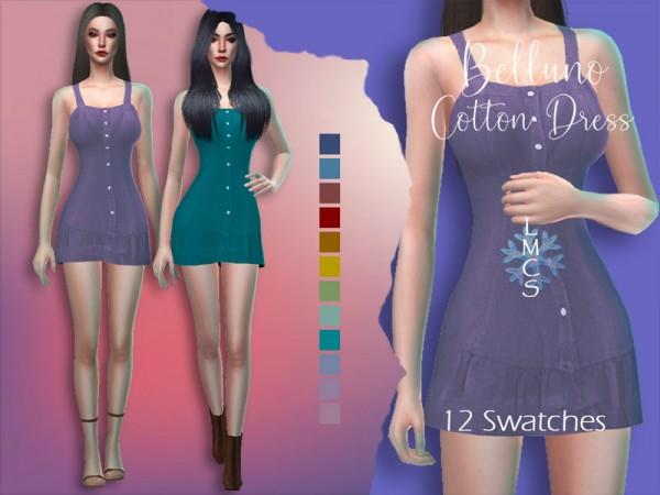 The Sims Resource: Belluno Cotton Dress by Lisaminicatsims