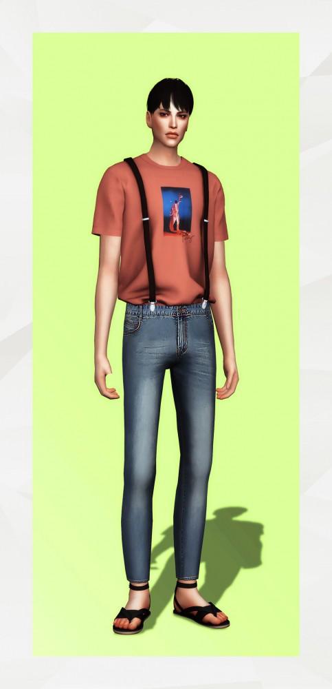 Gorilla: Short Sleeve T Shirt with Suspender