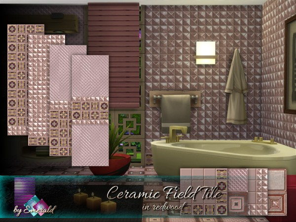 The Sims Resource: Ceramic Field Tile in redwood by Emerald