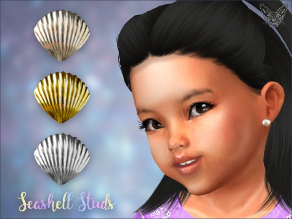 Giulietta Sims: Seashell Studs For Toddlers