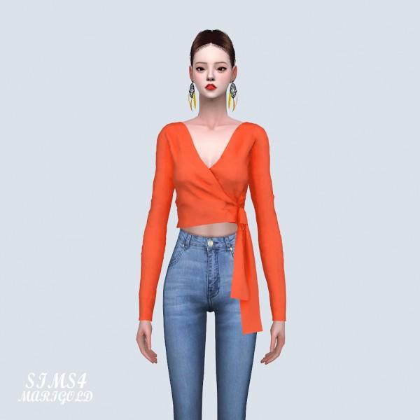 SIMS4 Marigold: Wrap Crop Top
