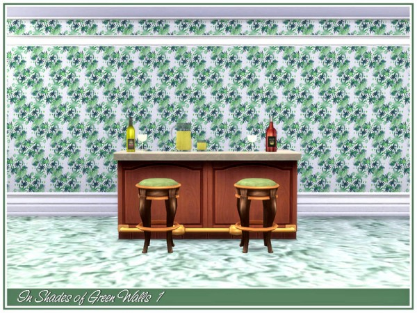 The Sims Resource: In Shades of Green Walls by marcorse