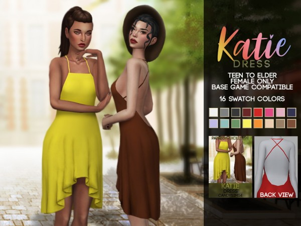 Candy Sims 4: Katie Dress
