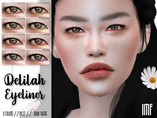 The Sims Resource: Delilah Eyeliner N.37 Boho by IzzieMcFire