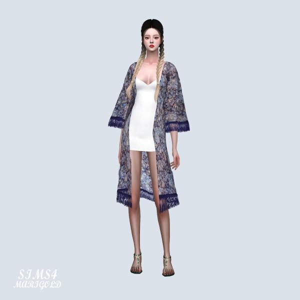 SIMS4 Marigold: Long Robe With Mini Dress