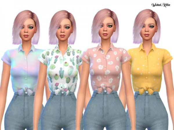 The Sims Resource: Fun Tied Tees by Wicked Kittie