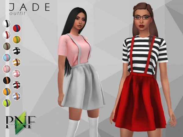 The Sims Resource: Jade Outfit by Plumbobs n Fries