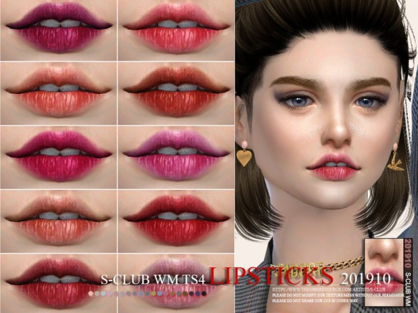 The Sims Resource: Lipstick 201910 by S Club