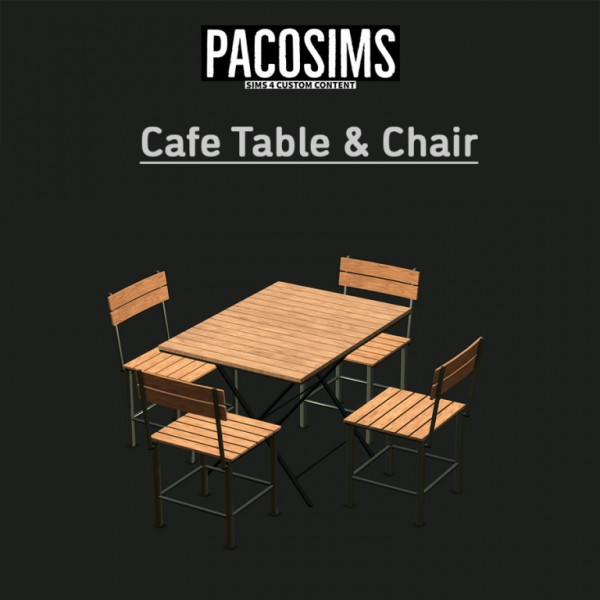 Paco Sims: Caafe table and Chair