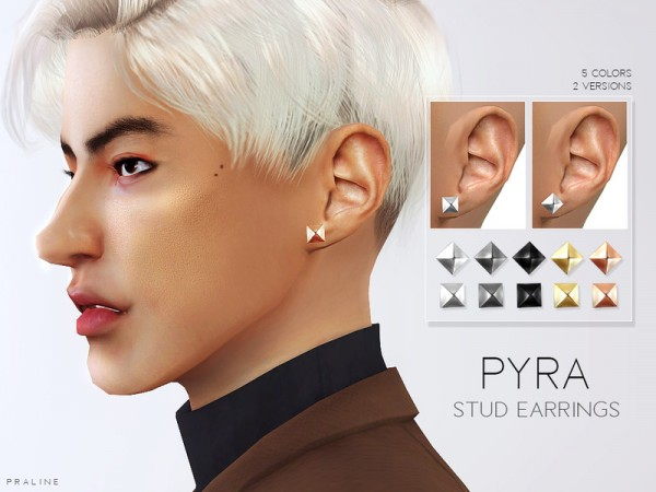 The Sims Resource: Pyra Stud Earrings by Pralinesims