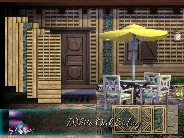 The Sims Resource: White Oak Siding by emerald