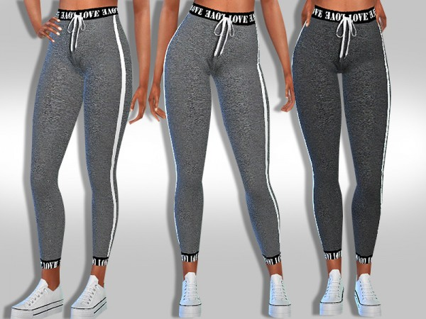 The Sims Resource: Trendy Athletic Leggings by Saliwa