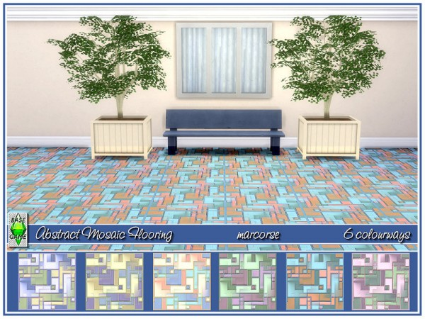 The Sims Resource: Abstract Mosaic Tile Flooring by marcorse