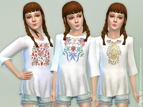 The Sims Resource: Girls Boho Blouse by lillka