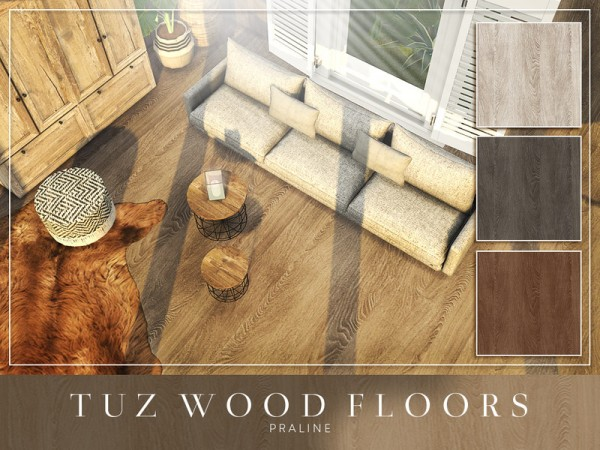 The Sims Resource: TUZ Wood Floors by Pralinesims