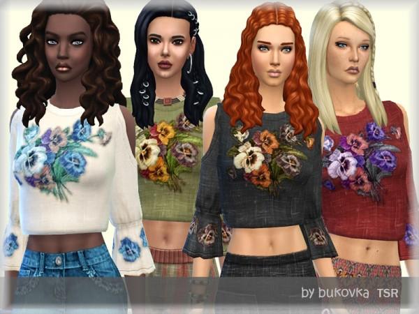 The Sims Resource: Shirt Boho by bukovka