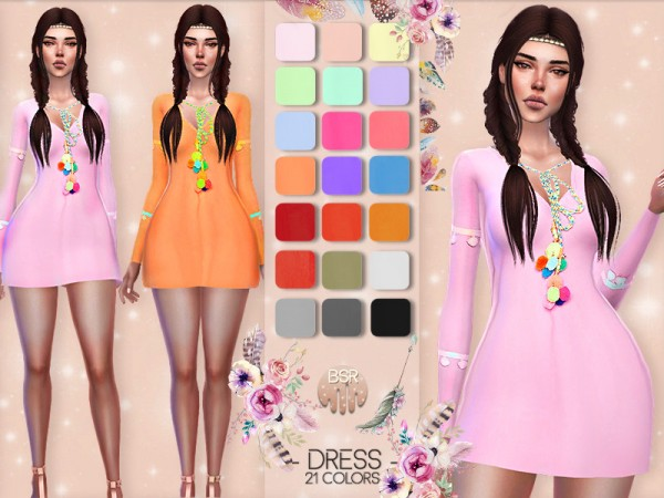 The Sims Resource: Boho Dress by busra tr